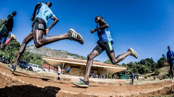 Training der Weltstars in Iten,  Kenia