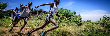 Cross-Lauf in Kenia